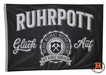 Fahne Ruhrpott Auf Kohle geboren