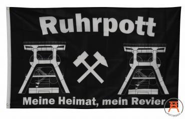 Fahne Ruhrpott Meine Heimat mein Revier